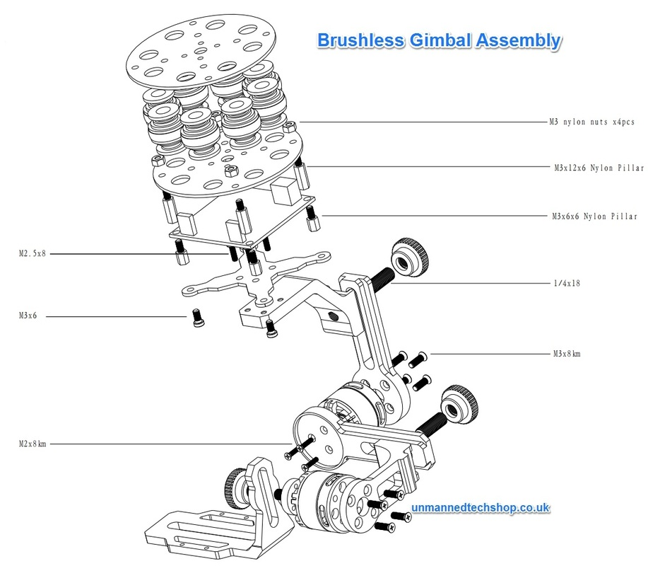 BLG2A Brushless Gimbal Assembly